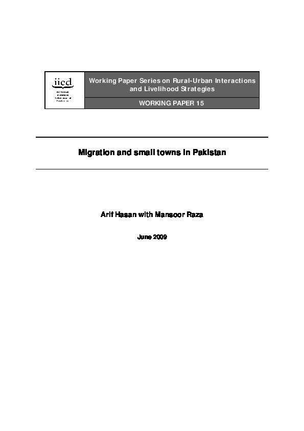 PDF) Rural-Urban Interactions and Livelihood Strategies Migration