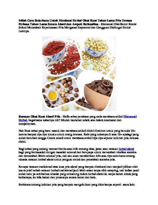 Inilah Cara Sederhana Untuk Membuat Herbal Obat Kuat Tahan Lama Pria ... 6508b94b19