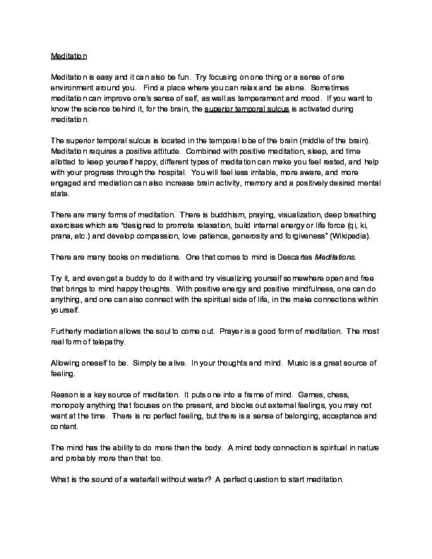 PDF) Meditation pdf | Blake M Salemink - Academia edu