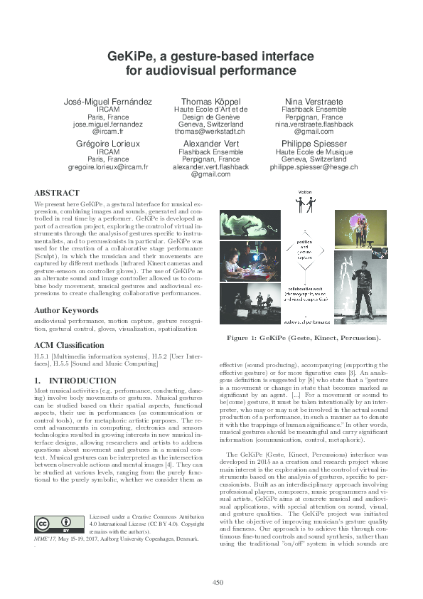 PDF) GeKiPe, a gesture-based interface for audiovisual