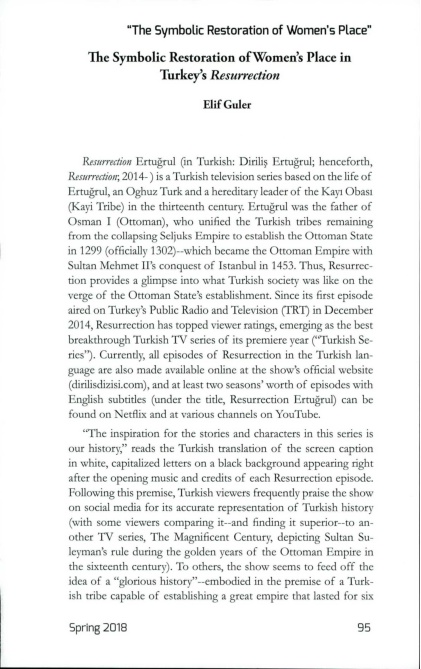 PDF) The Symbolic Restoration of Women's Place in Turkey's