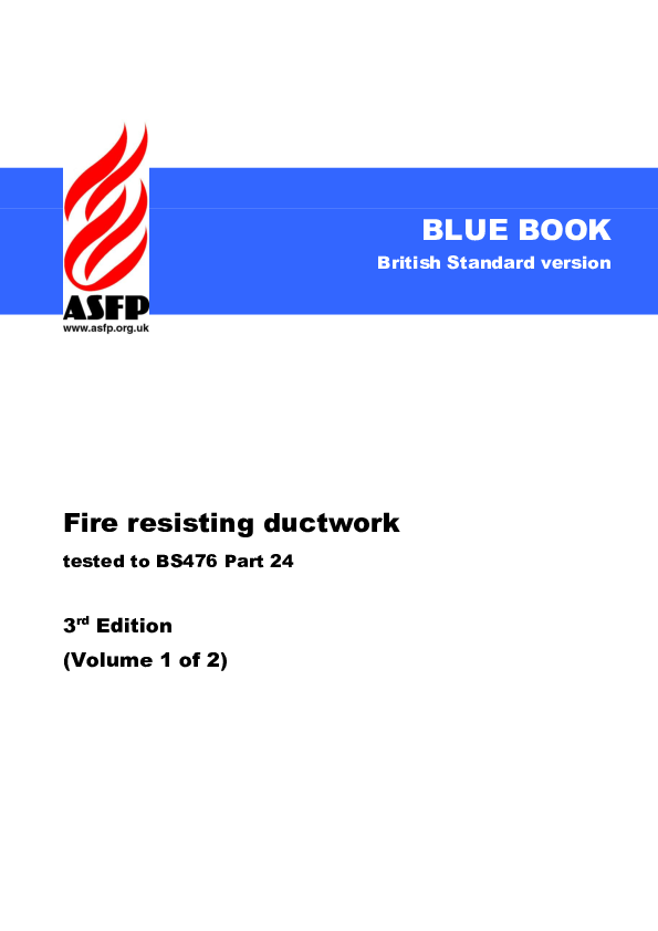 PDF) ASFP Blue Book - Fire Resisting Ductwork - Volume 1 - 3rd