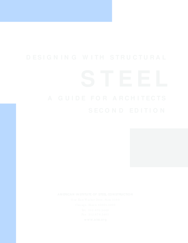 PDF) Designing with Structural Steel - A Guide for Architects ...