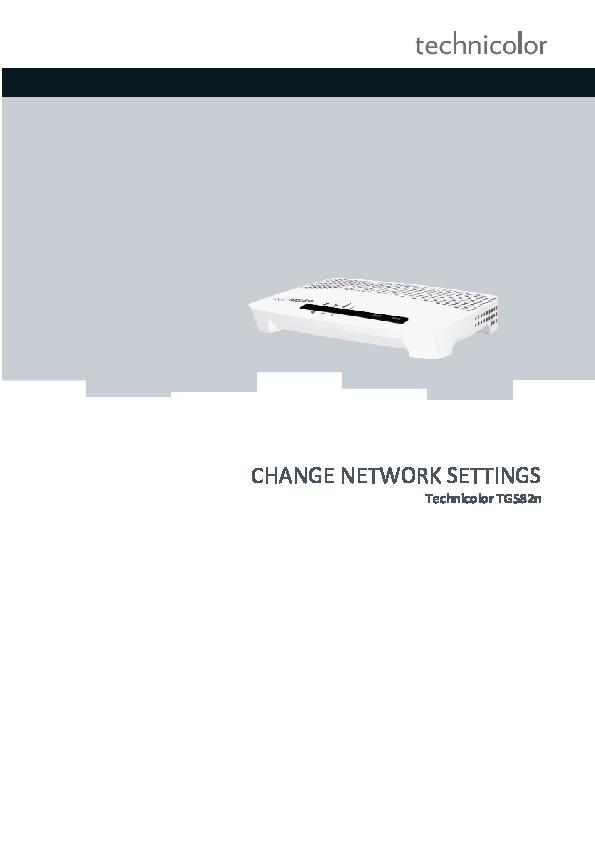 PDF) CHANGE NETWORK SETTINGS Technicolor TG582n | Juan