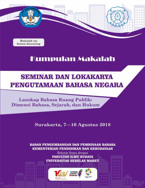 PDF) Prosiding_Pengutamaan Bahasa Negara_Solo_2018 pdf