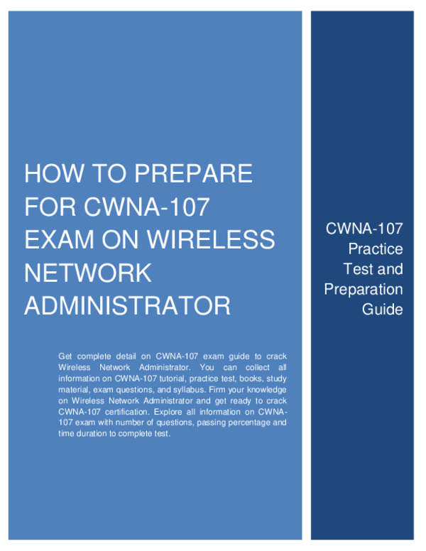 PDF) How to Prepare for CWNA-107 exam on Wireless Network