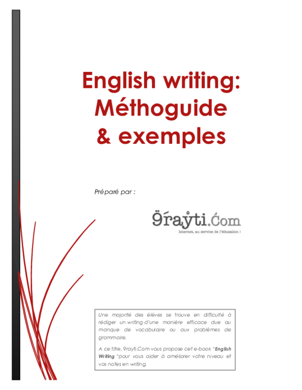 Pdf English Writing Méthoguide Exemples Mouhsine