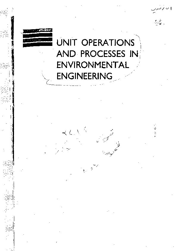 (PDF) Unit Operations and Processes in Environmental
