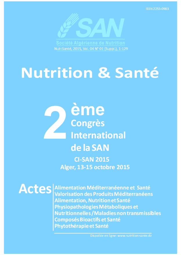 5613fe0b7127 Acte du Séminaire International en nutrition Année 2015   Dr Lyes ...