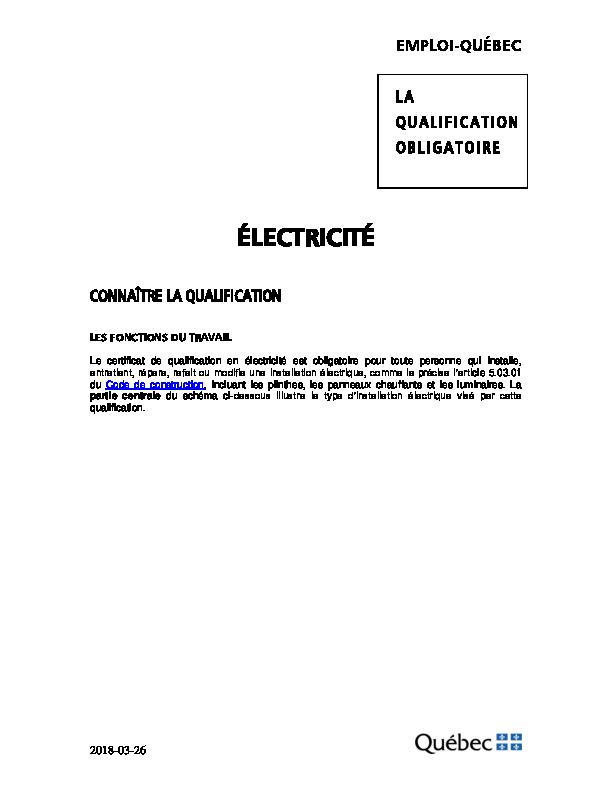 Quebec code pdf electrique