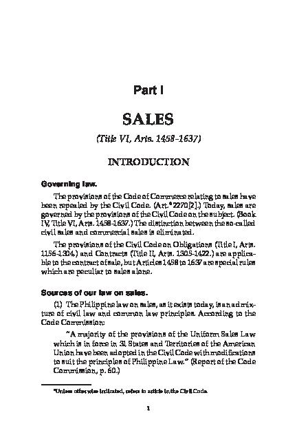 PDF) LAW_OF_SALES_BY_HECTOR_DE_LEON.pdf | Hector louis Fabiana ...