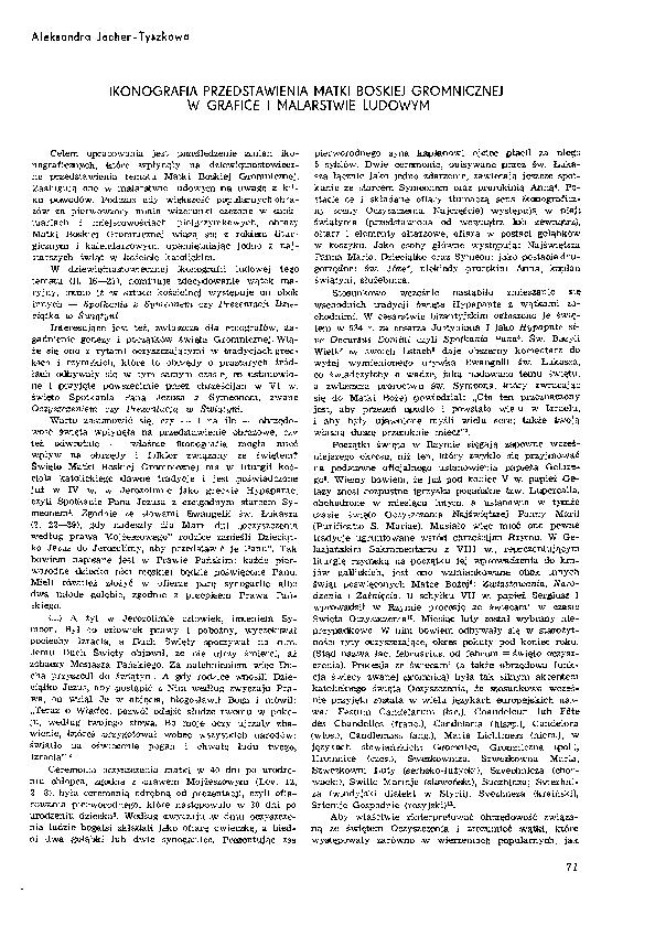 Pdf Aleksandra Jacher Tyszkowa Ikonografia Przedstawienia