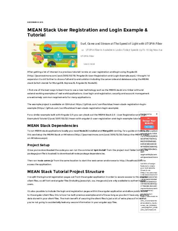 PDF) MEAN Stack User Registration and Login Example & Tutorial