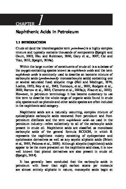 PDF) Naphthenic Acids in Petroleum | Gabriela Matei