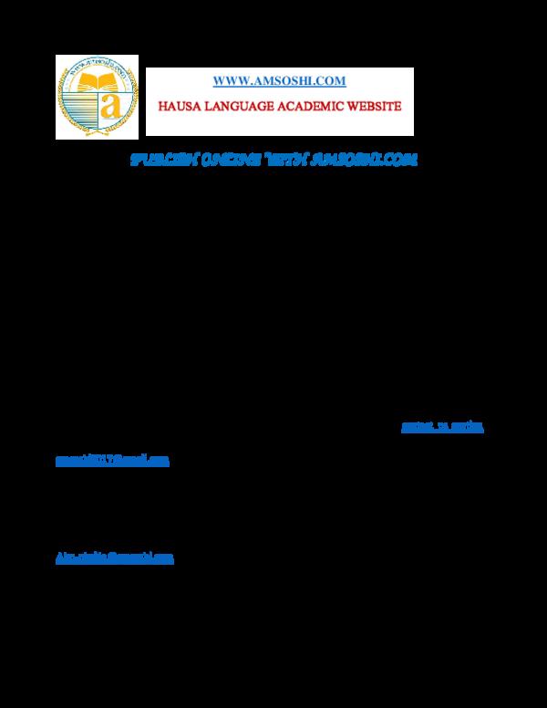 PDF) PUBLISH ONLINE WITH AMSOSHI COM   Abu-Ubaida Sani