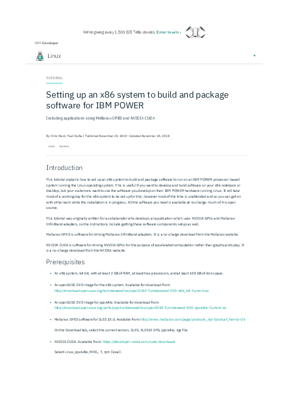 PDF) Setting up an x86 system to build and package software