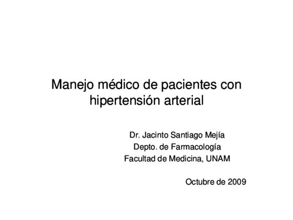 Manejo de la hipertensión arterial pulmonar ppt 2020