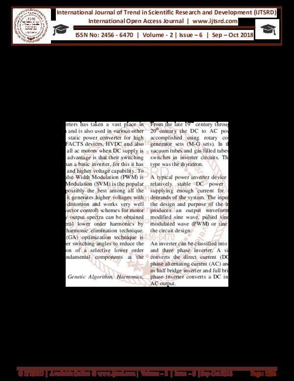 PDF) Harmonic Analysis of SVPWM Based Three Phase Inverter