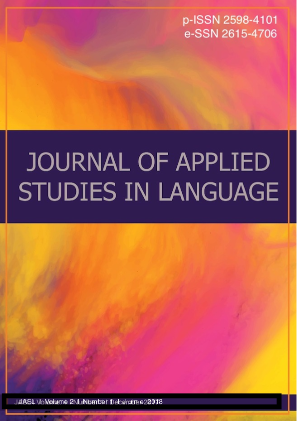 PDF) Journal of Applied Studies in Language (JASL)-Complete