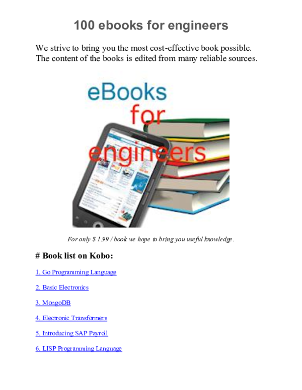 DOC) 100 ebooks for engineers | Best eBooks | eBooks for ICT | Thanh