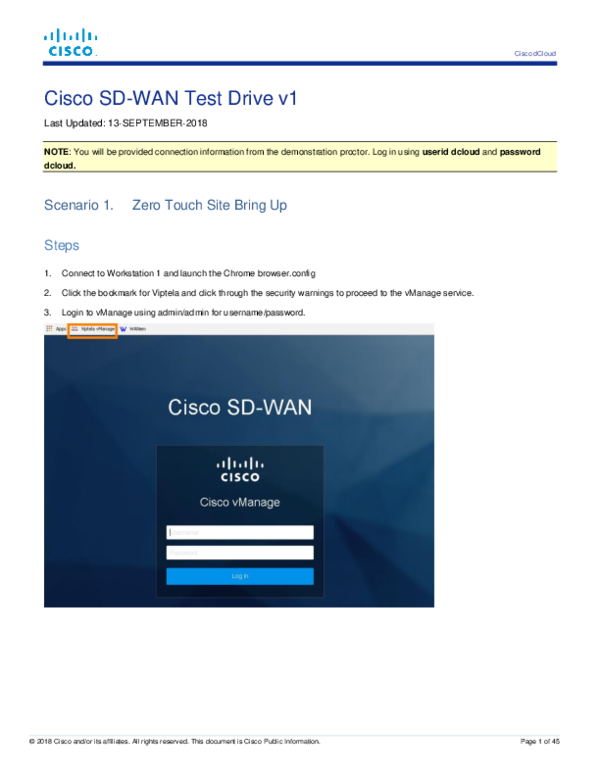 PDF) Cisco SD-WAN Test Drive v1 | Juan Juan - Academia edu