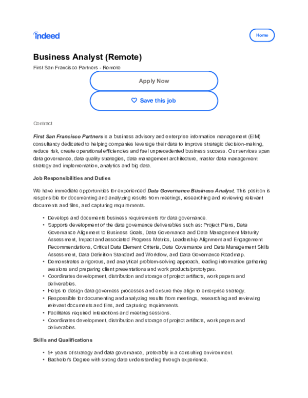 PDF) BUSINESS ANALYST REMOTE OAKLAND CA pdf | thomas mcclure