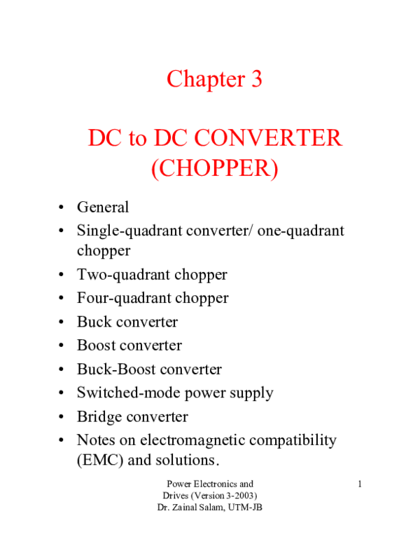 PDF) Chapter 3 DC to DC CONVERTER (CHOPPER | Kha Nguyên - Academia edu