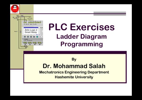 Pdf  Plc Exercises Ladder Diagram Programming
