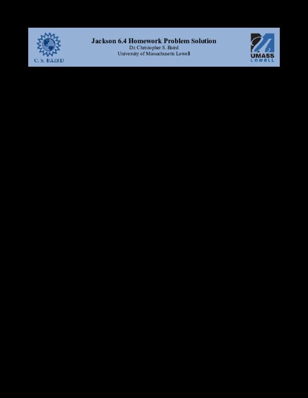 PDF) Jackson_6_4_Homework_Solution pdf | Wuilson Adolfo