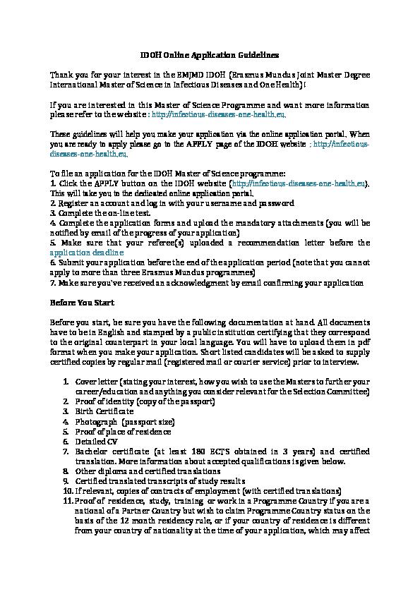 PDF) IDOH Online Application Guidelines | Gra Venturin