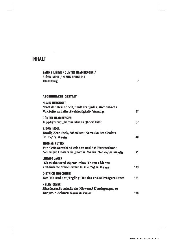 In pdf tod venedig