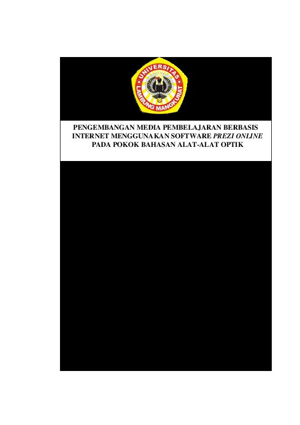 Pdf Full Skripsi Pengembangan Media Pembelajaran Berbasis Internet Menggunakan Software Prezi Online Pada Pokok Bahasan Alat Alat Optik Pdf Oktovian Rahmat Academia Edu