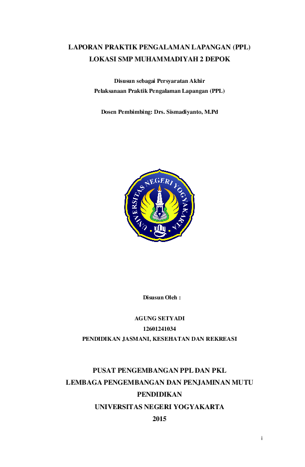 Pdf Laporan Praktik Pengalaman Lapangan Ppl Lokasi Smp Muhammadiyah 2 Depok Tania Esthining Windy Academia Edu