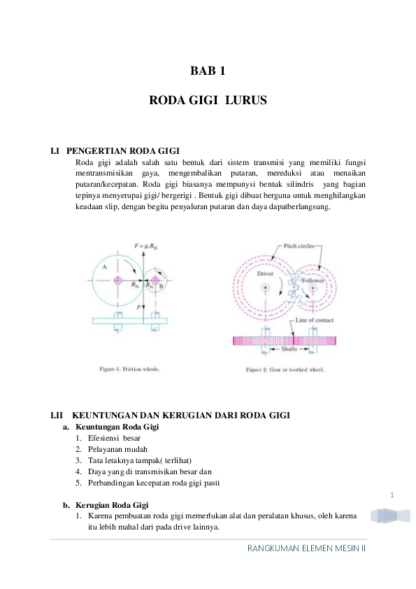 Contoh Soal Perhitungan Roda Gigi Lurus Barisan Contoh