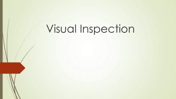 PPT) Visual Inspection | İlker Kayatürk - Academia edu