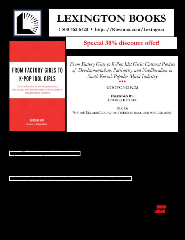 PDF) LEXINGTON BOOKS Special 30% discount offer! | Gooyong