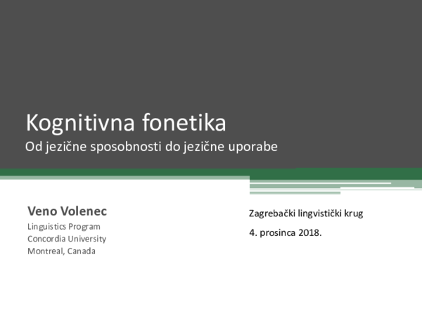 Zagrebacki Lingvisticki Krug Youtube