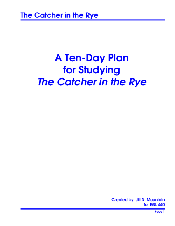 Holden caulfield character analysis thesis - VilliHiwebAt