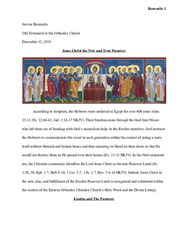 PDF) Jesus Christ the New and True Passover | Savvas