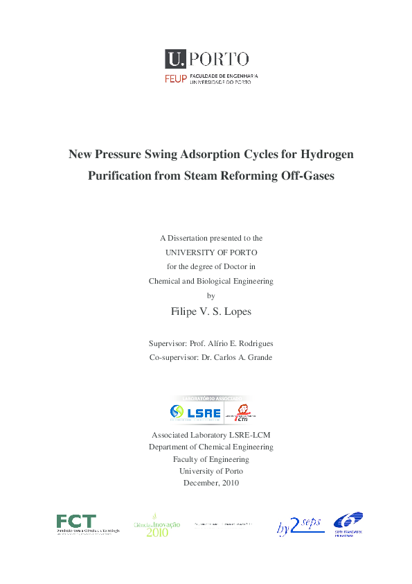 PDF) New pressure swing adsorption cycles for hydrogen