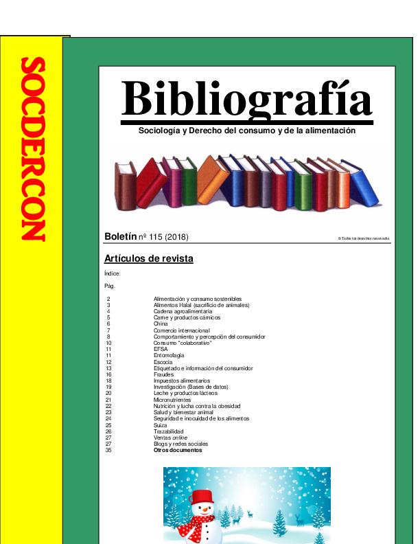 PDF) 🌐 Boletín nº 115 (2018) Referencias bibliográficas