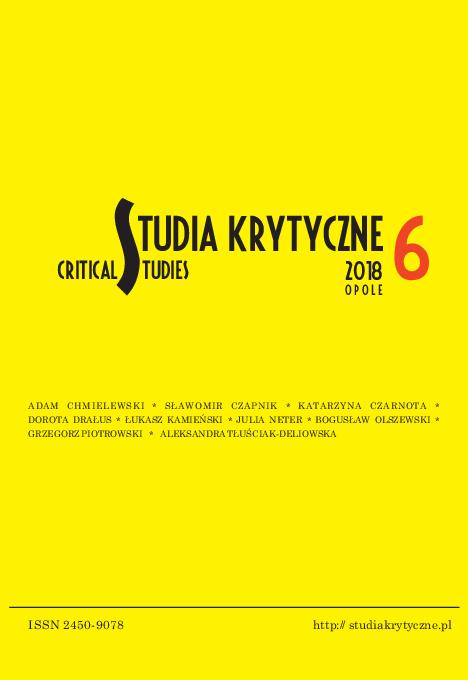 Pdf Studia Krytyczne Critical Studies Nr 6 Slawomir