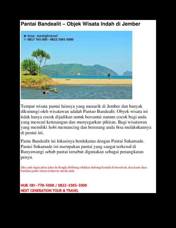 Doc Pantai Bandealit Objek Wisata Indah Di Jember Nextg