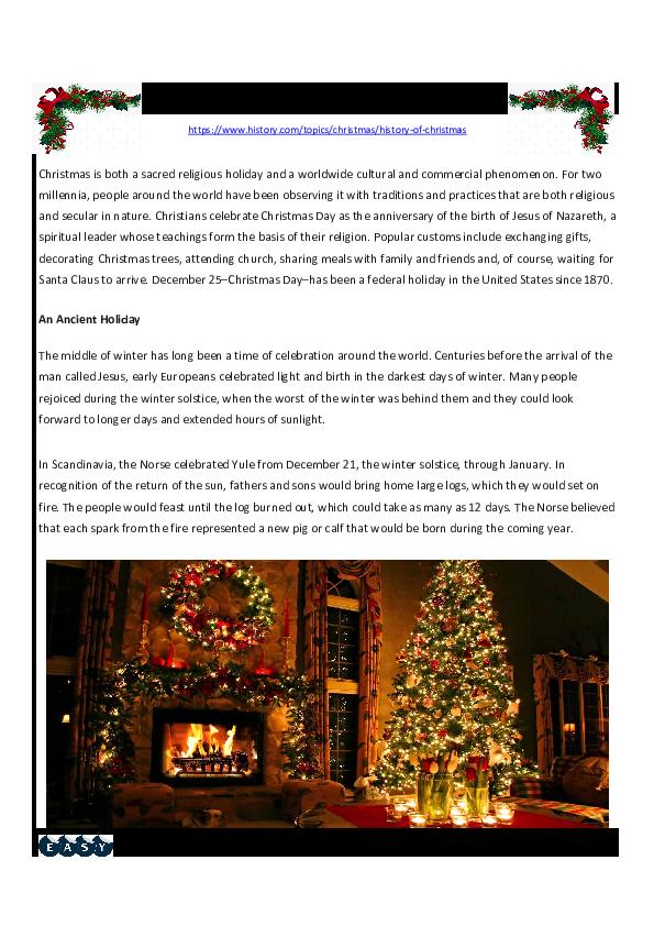 History Of Christmas Anderson Romanhuk Academia Edu