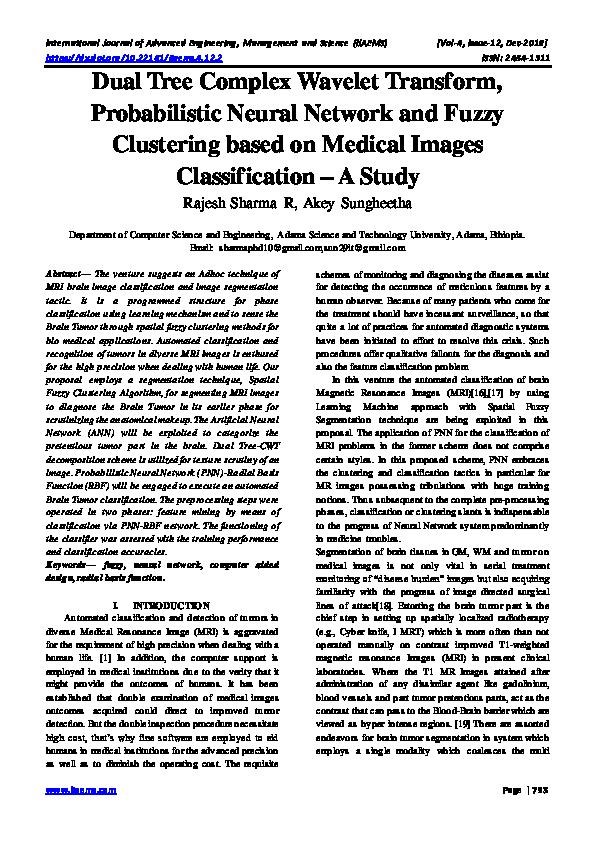 PDF) Dual Tree Complex Wavelet Transform, Probabilistic
