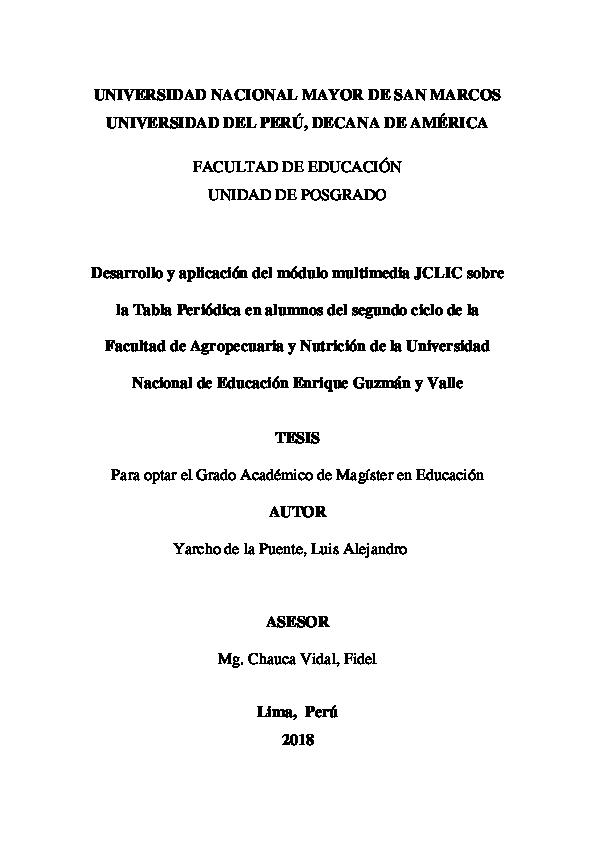 Pdf Desarrollo Y Aplicación Del Módulo Multimedia Jclic
