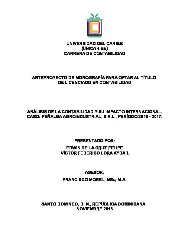 Doc Universidad Del Caribe Unicaribe Carrera De