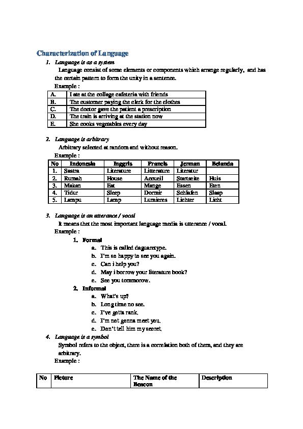 DOC) Characterization of Language | ratna wahyu - Academia edu