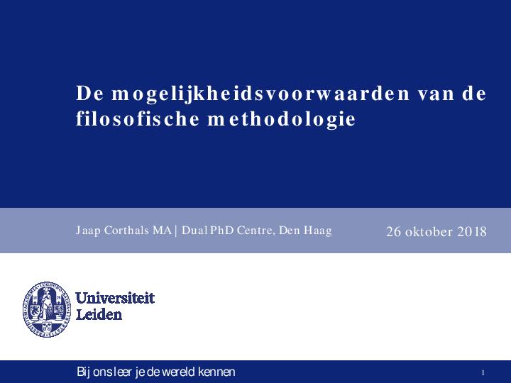 Pdf Presentatie Proefschriftonderzoek Universiteit Leiden