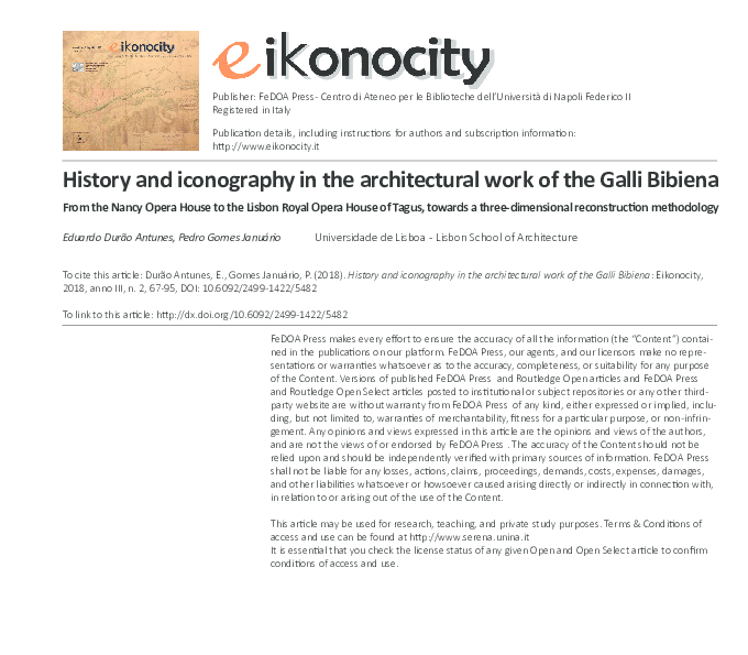 Pdf History And Iconography In The Architectural Work Of